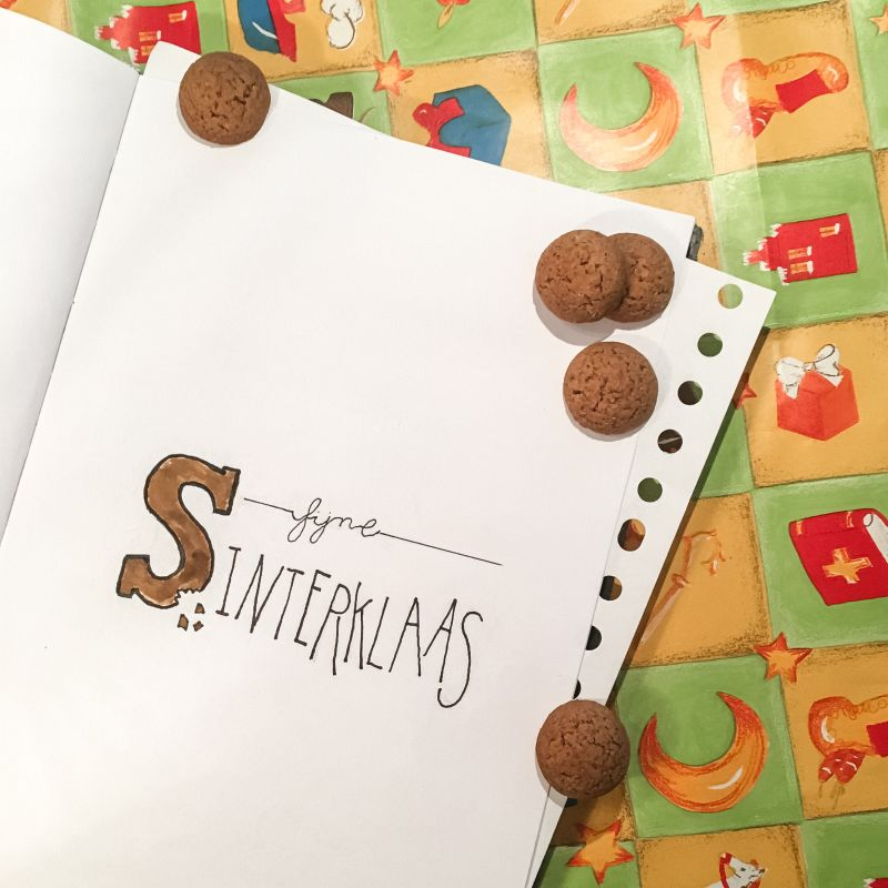Sinterklaas handlettering