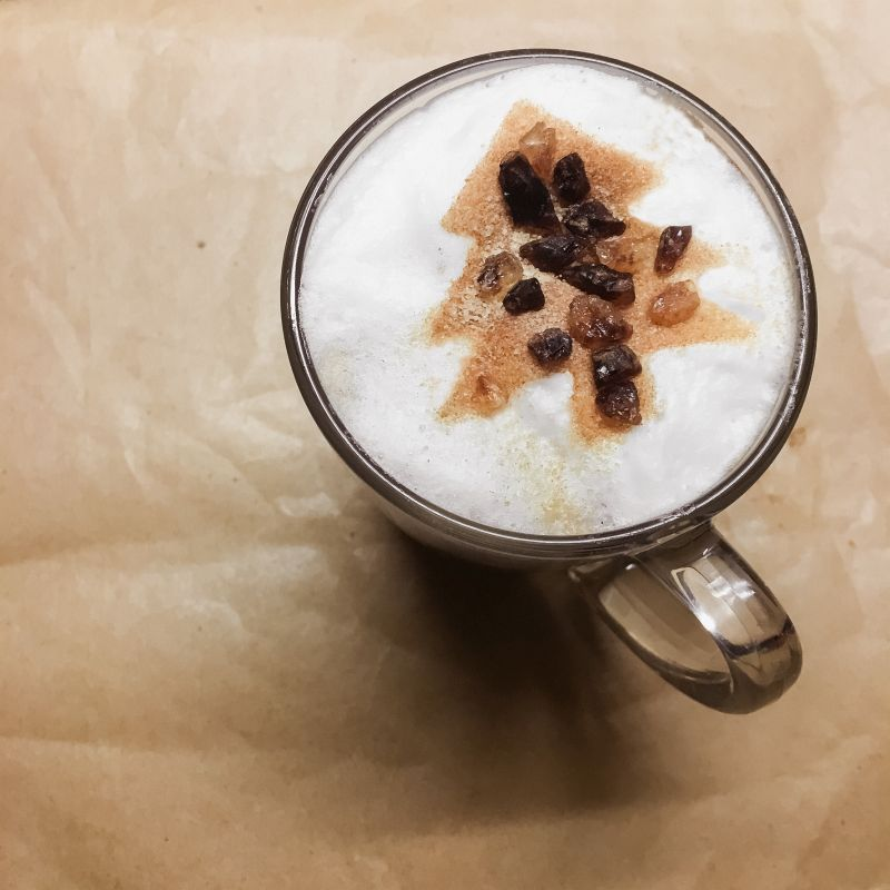 Latte macchiato hazelnoot/kaneel
