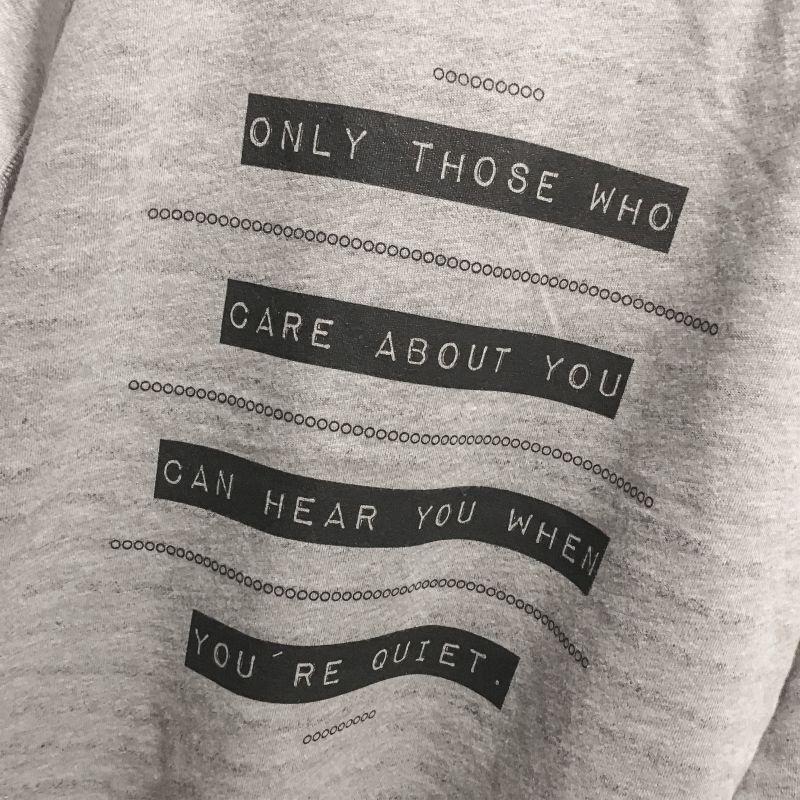 Mooie tekst op een sweater