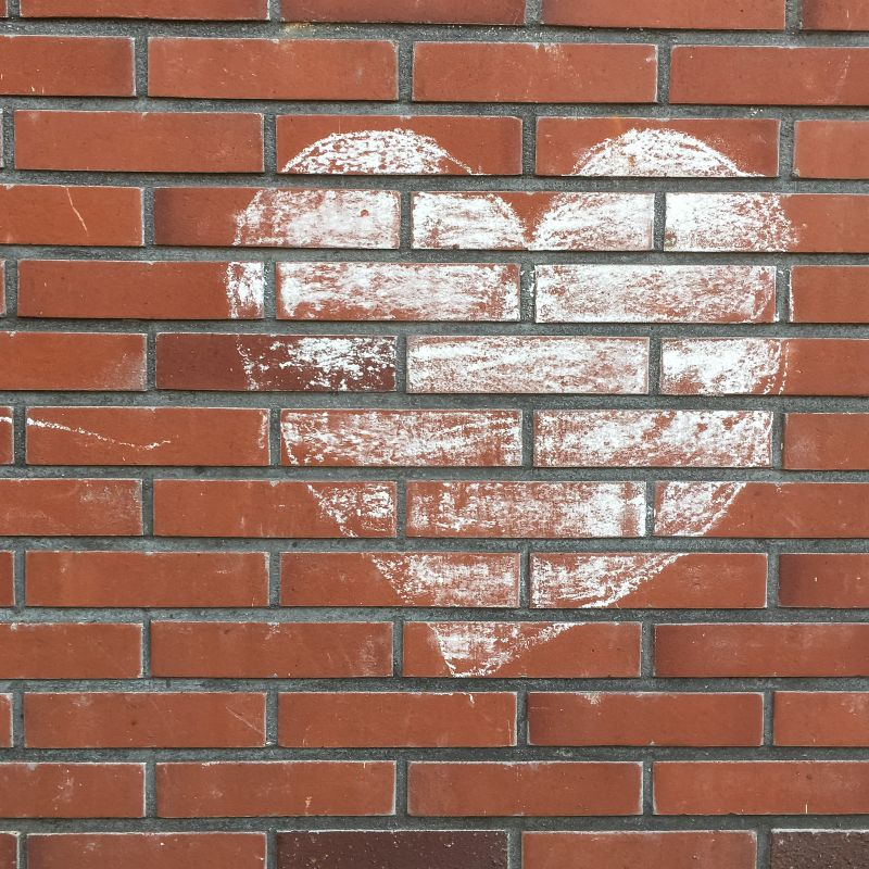 Hart op de muur