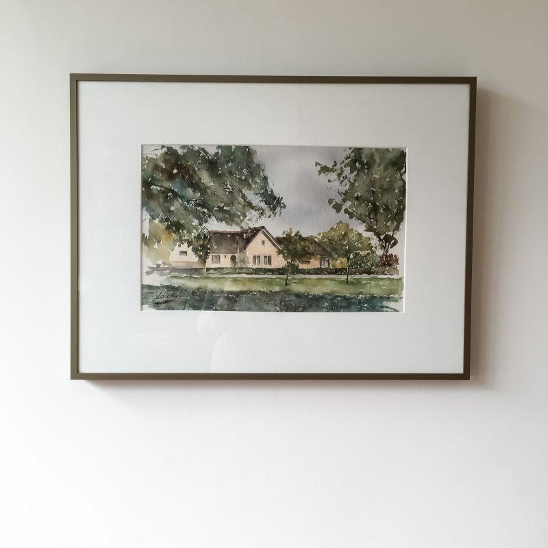 Schilderij van oma's huis