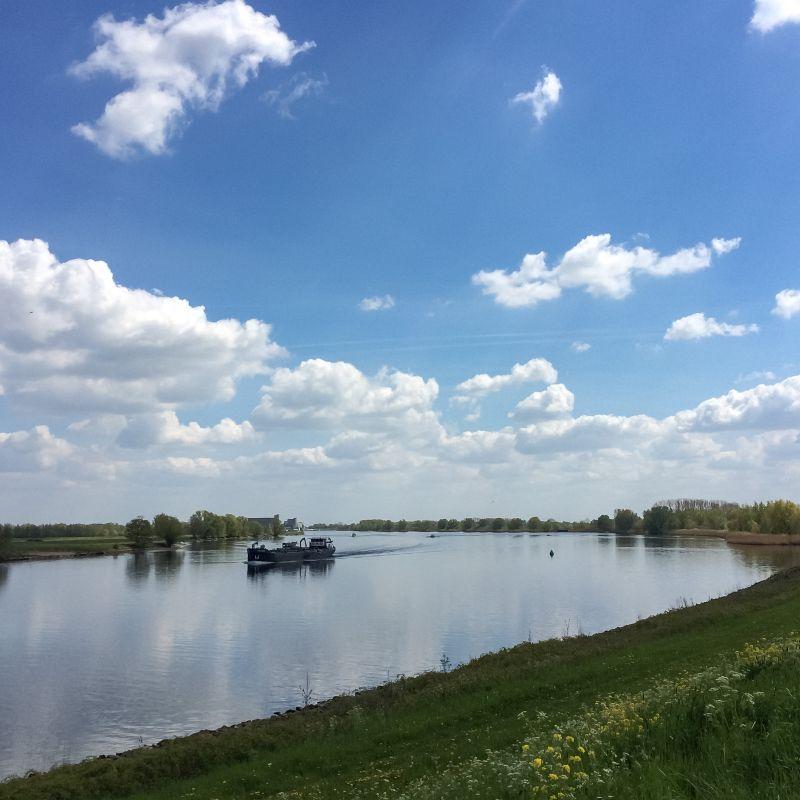Boot op de Maas