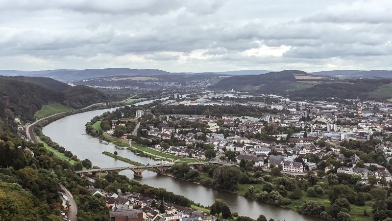 Uitzicht over Trier (Duitsland)