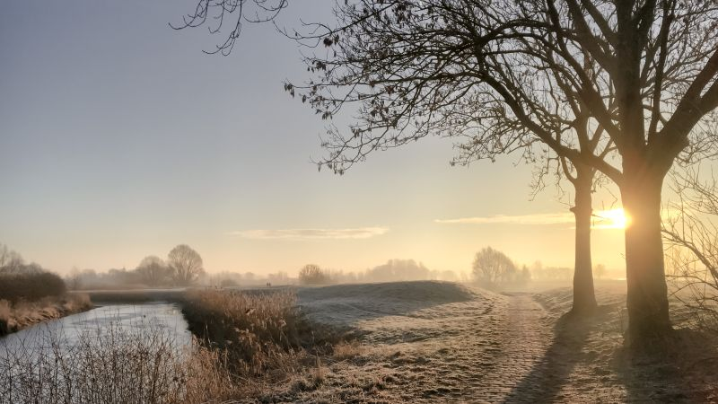 Mooi ochtendlandschap