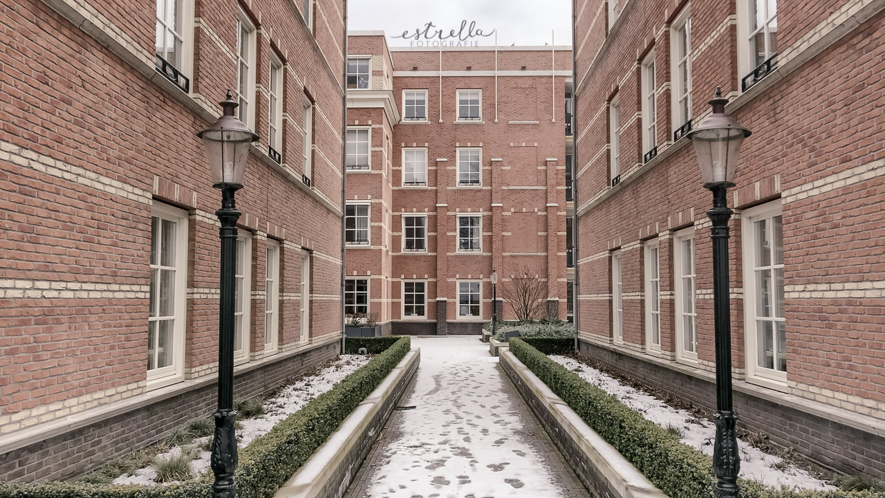 Sneeuw bij het 7e Bastion