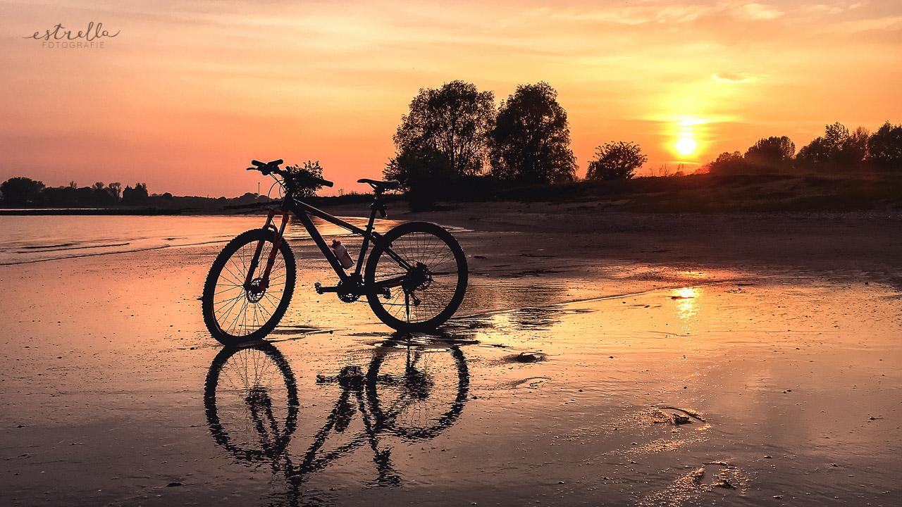 Mijn fiets in het water