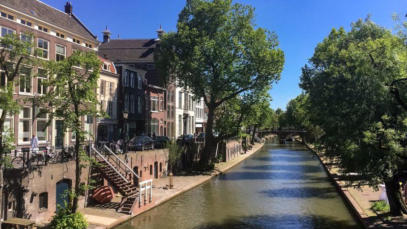 Uitzicht over één van de Utrechtse grachten