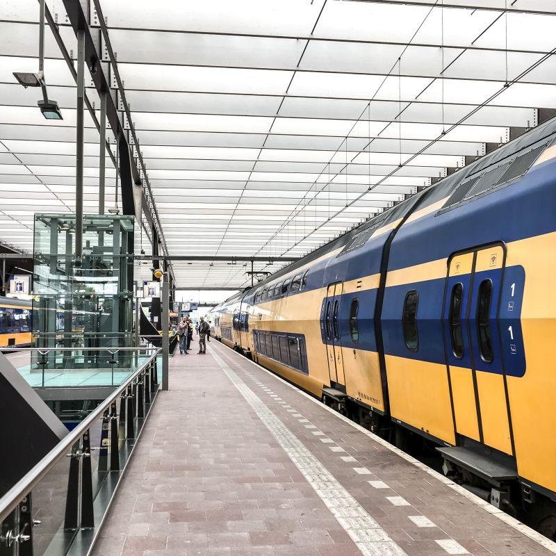 De trein in Rotterdam