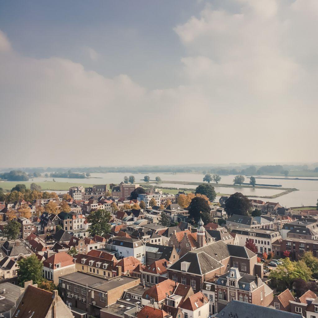 Uitzicht over Gorinchem