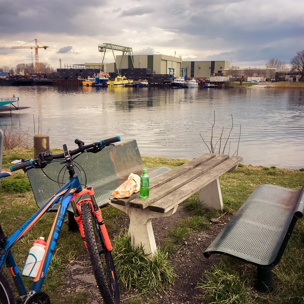 Mijn fiets in Veen