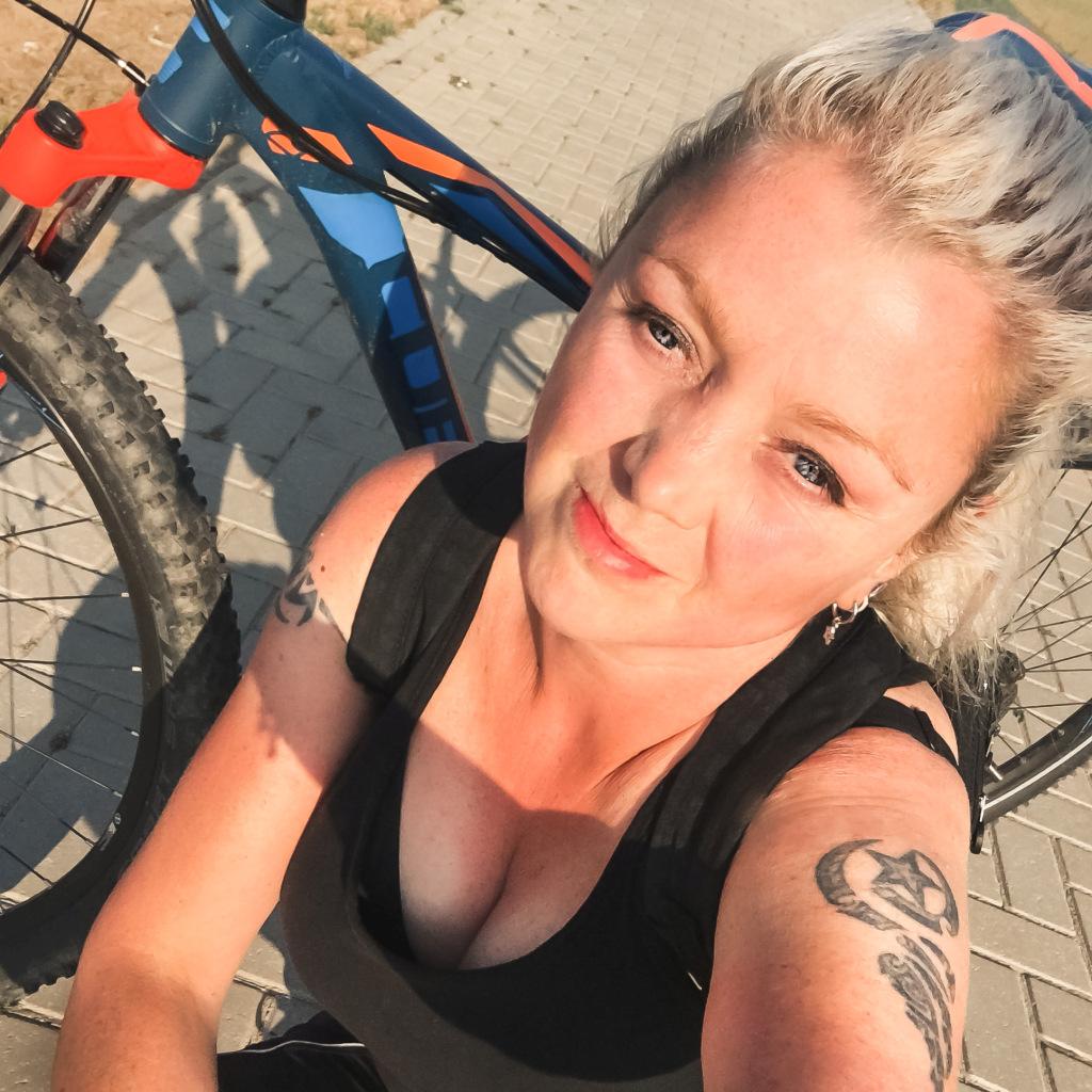 Selfie tijdens fietstocht