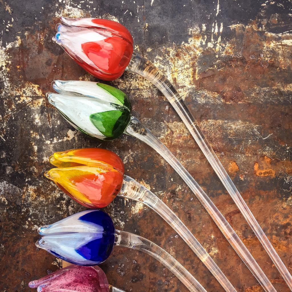 Glazen tulpen