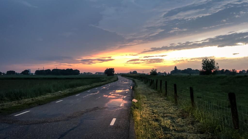 Rijden bij zonsondergang