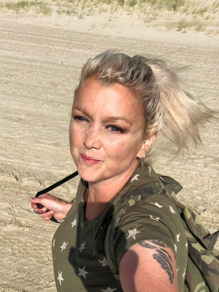 Selfie op het strand