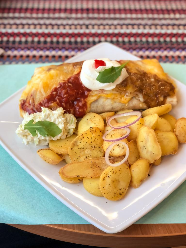 Burrito met aardappeltjes