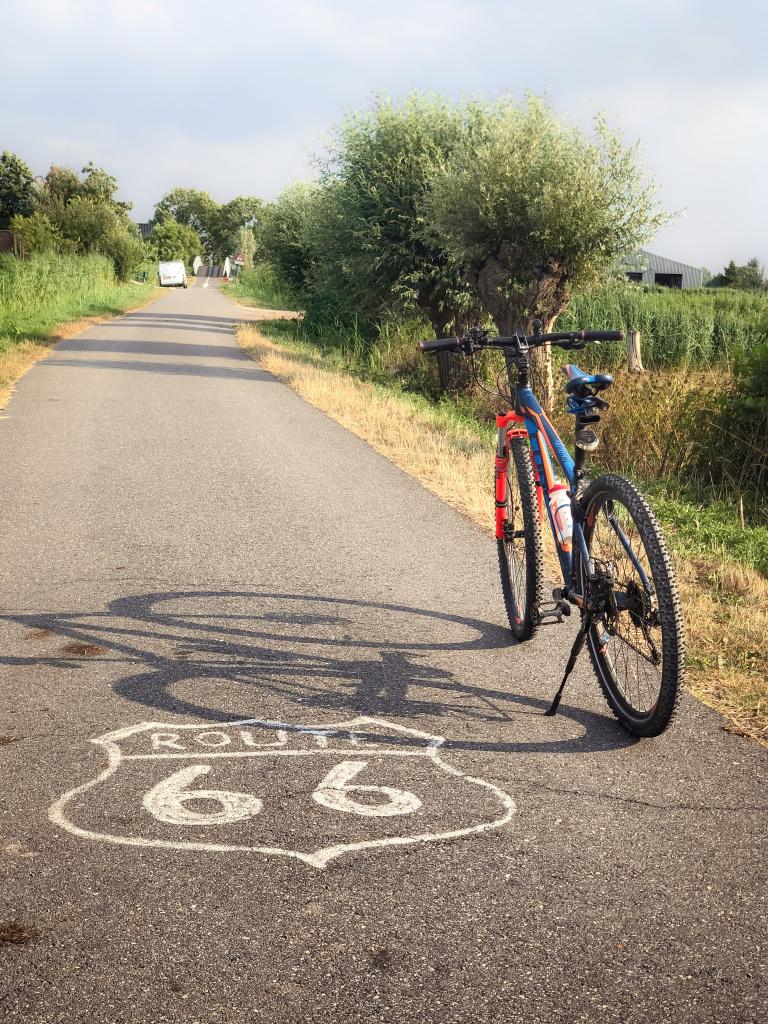 Fietsen op Route66 :-)