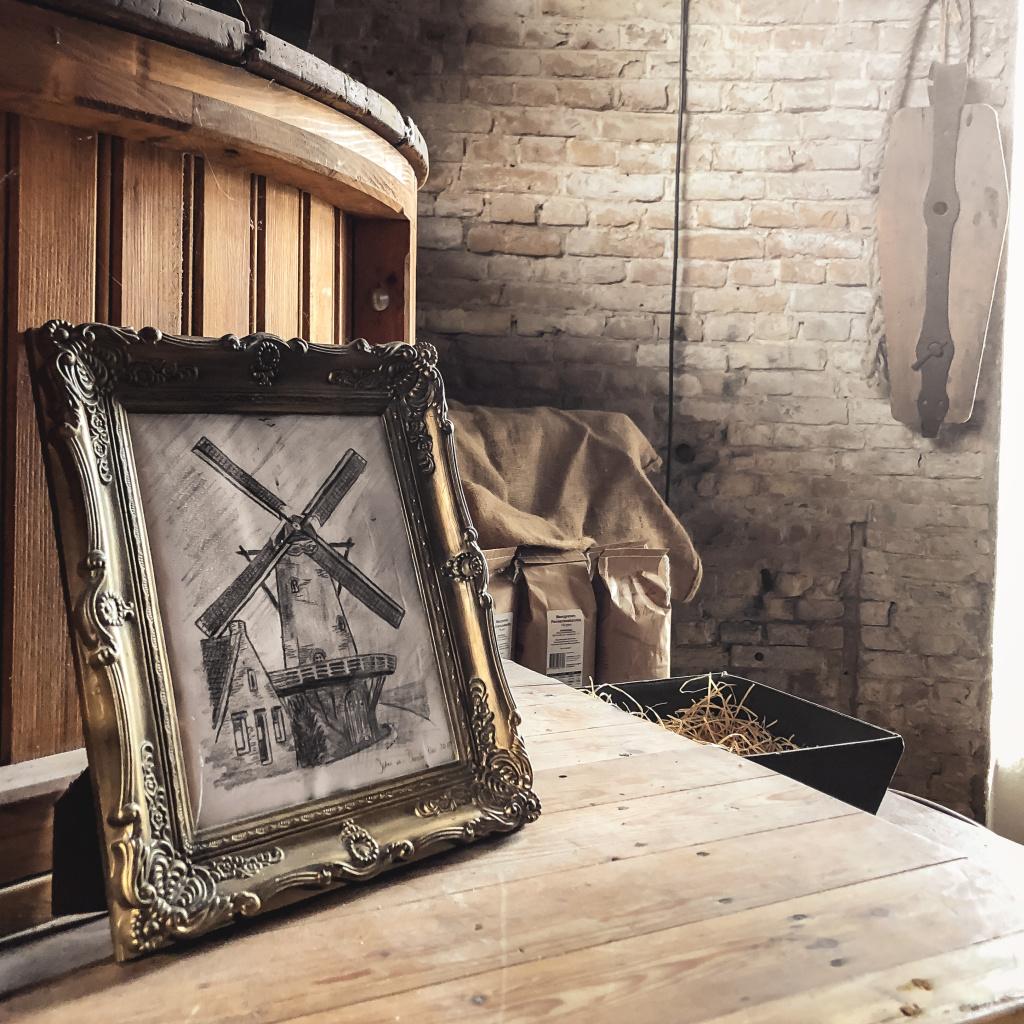 Schilderijtje in de Veense molen