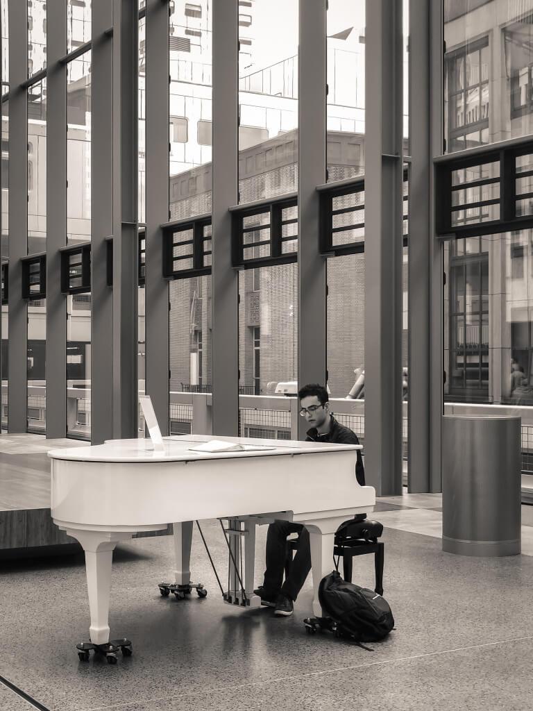 Piano in het ziekenhuis