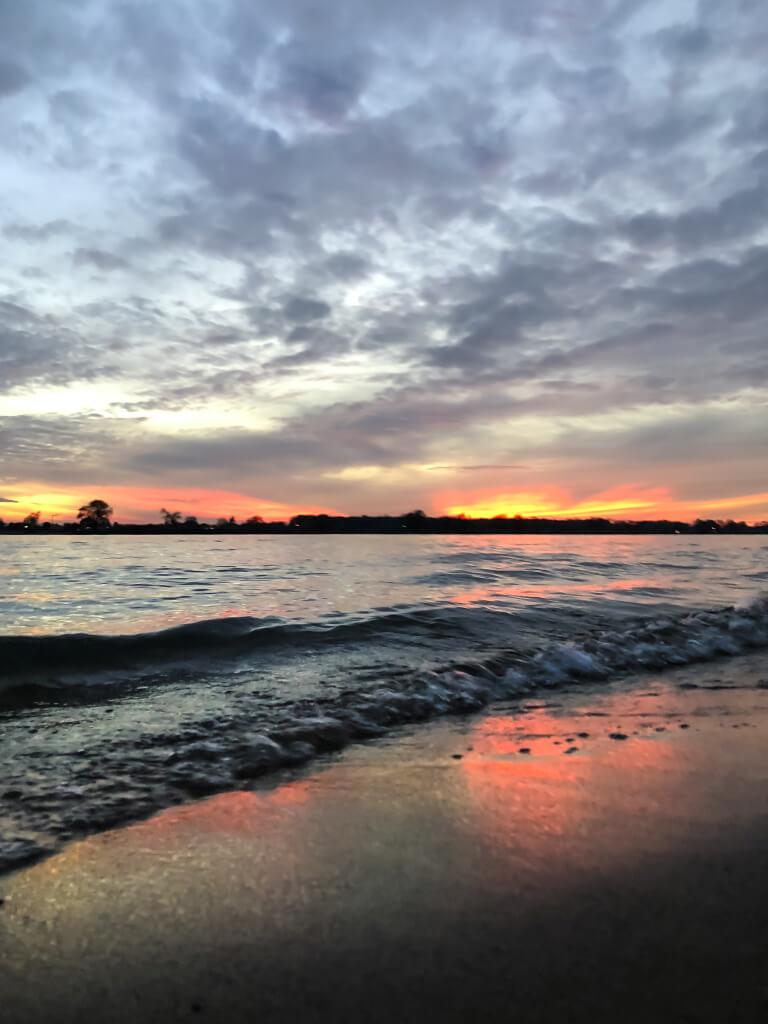 Pastelkleurige zonsondergang