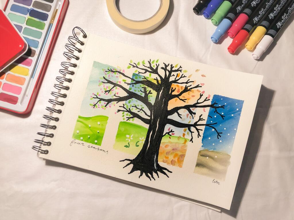 Vier seizoenen tekening