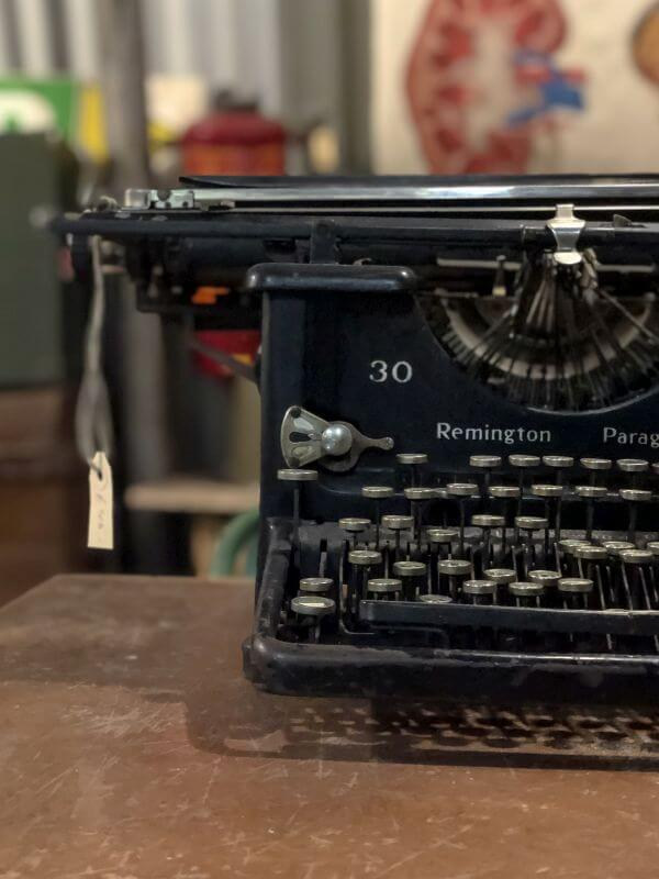 Oude typemachine