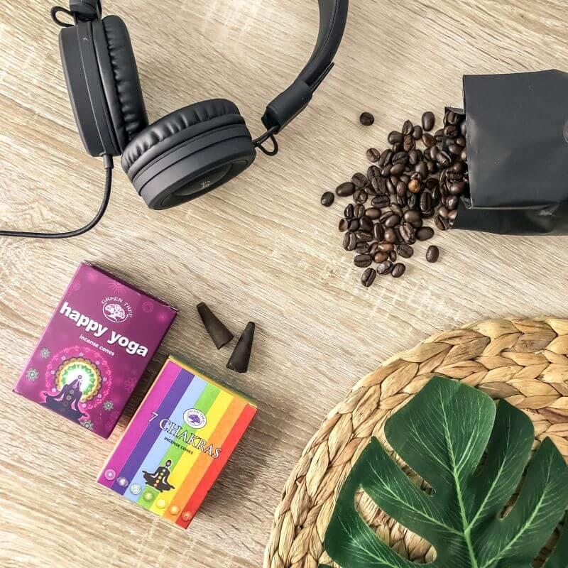 Muziek, wierook en koffie