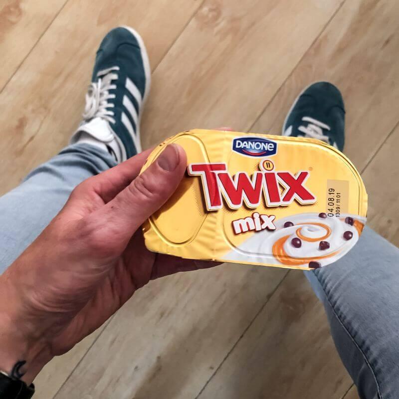 Twix-toetje van Danone
