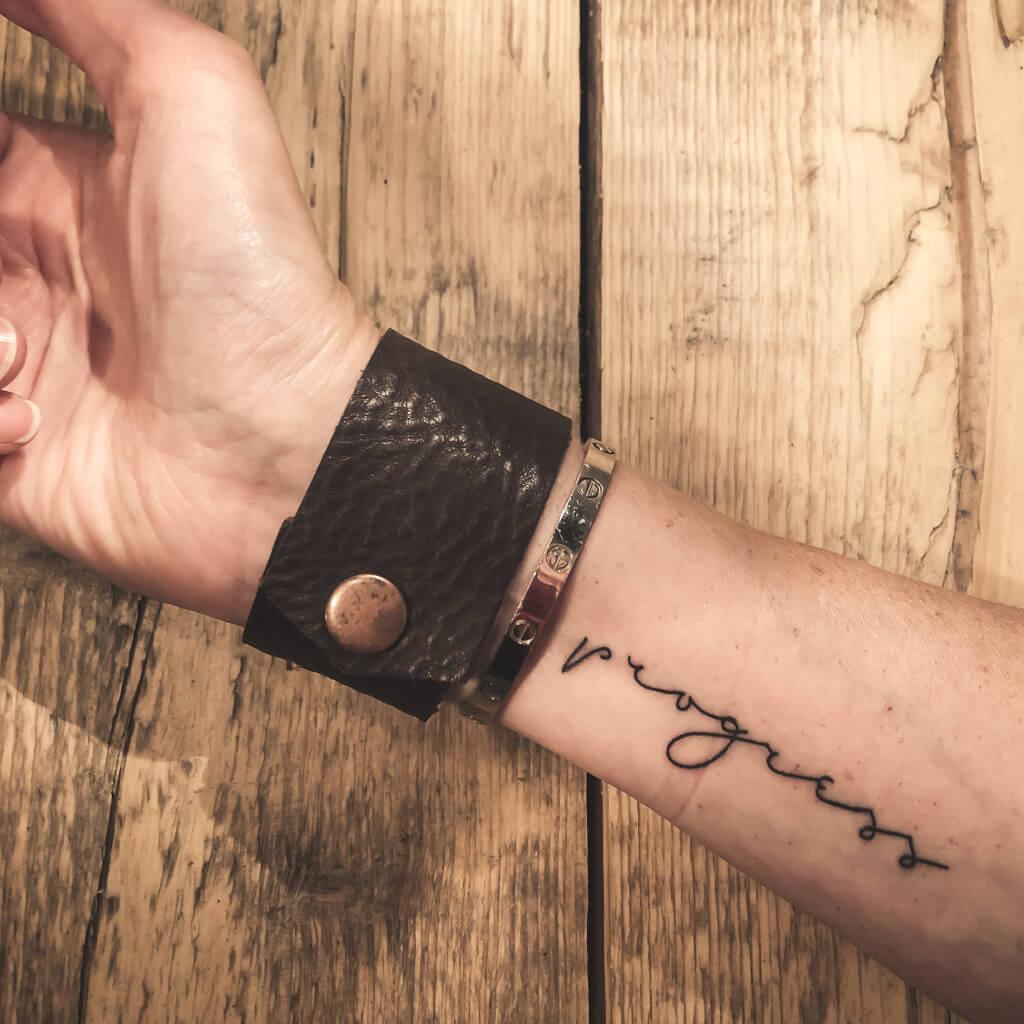 Nieuwe leren armband