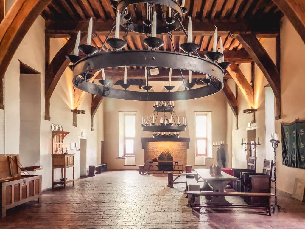 Eén van de kamers in Slot Loevestein