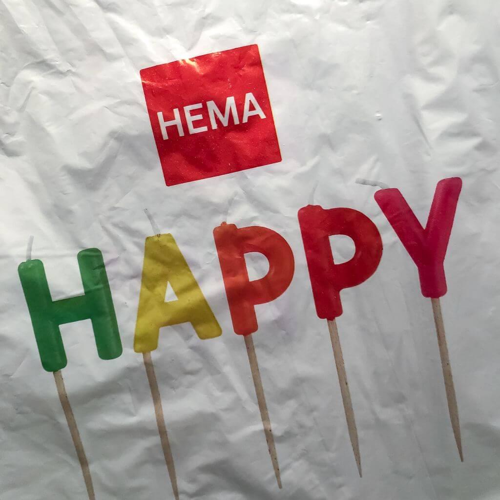 Een happy-tas van HEMA
