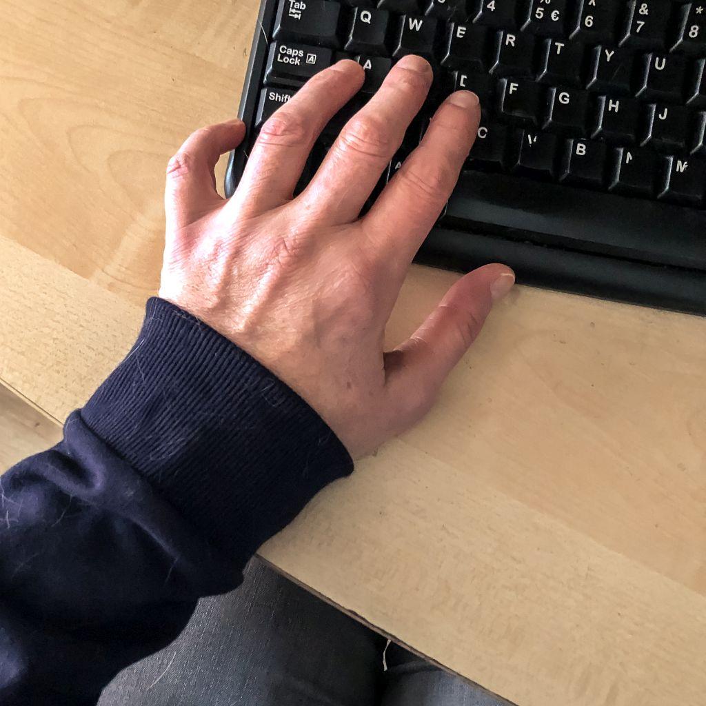 Uren doorgebracht achter de computer
