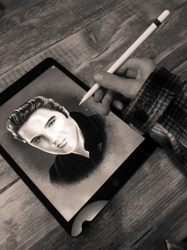 Portrettekening Elvis
