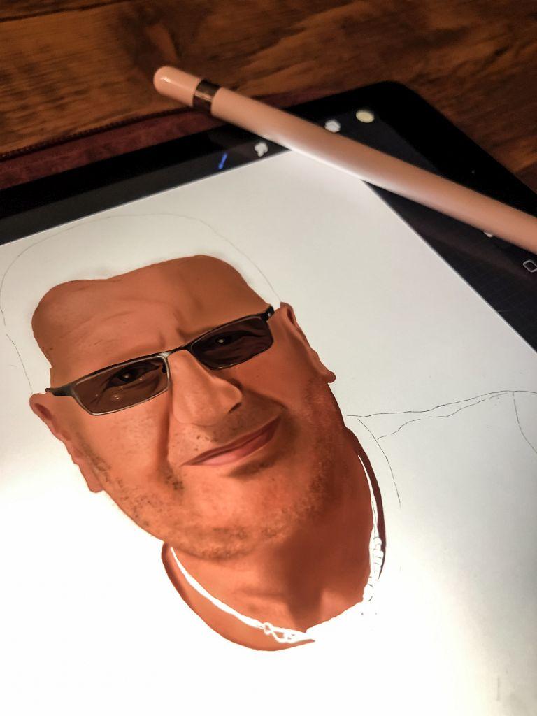 Het portret begint vorm te krijgen