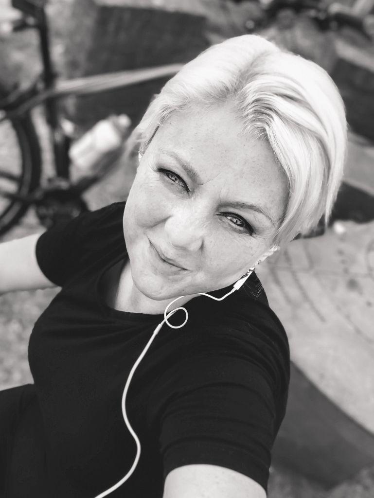 Selfie in zwart-wit