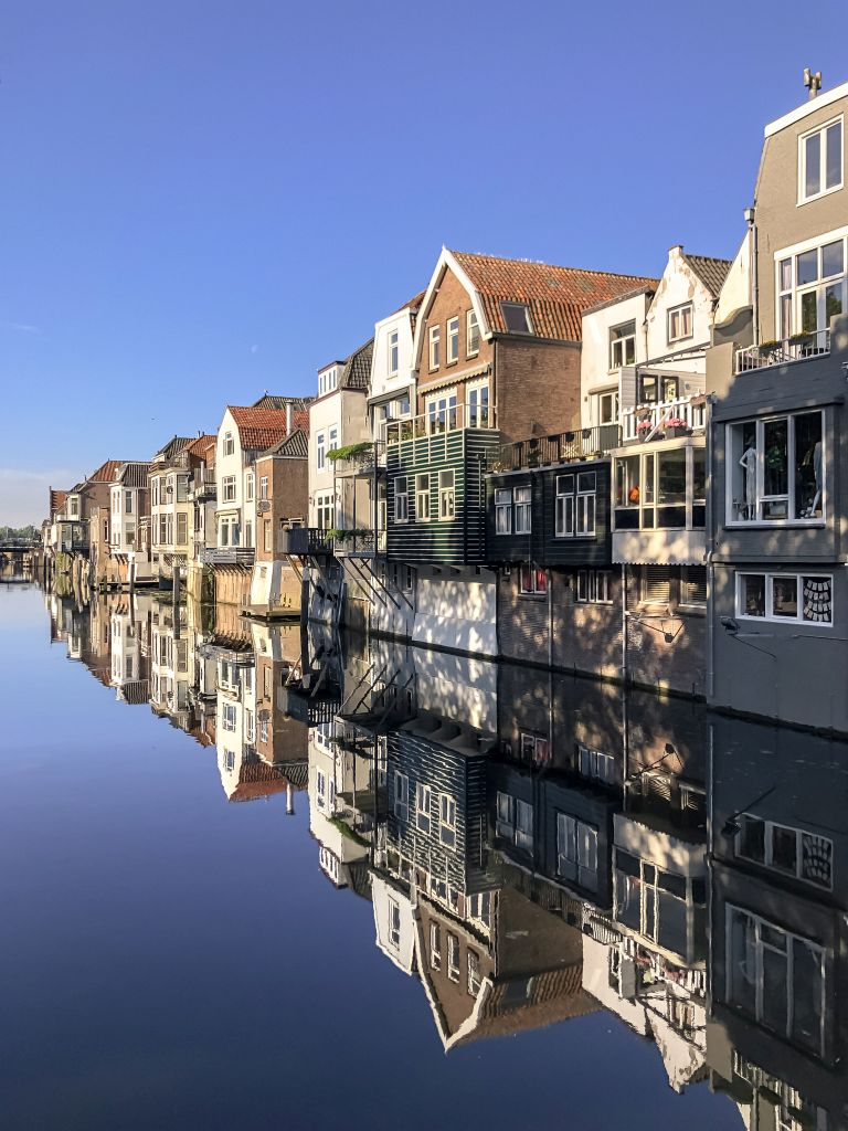 Perfecte reflectie in de Lingehaven