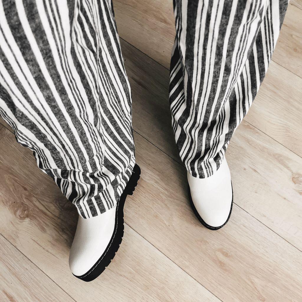 Outfit met wijde broek