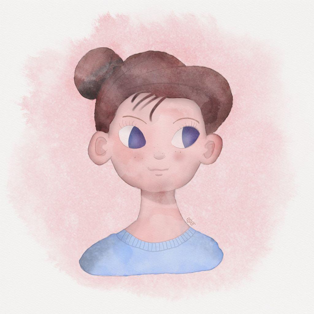 Illustratie van een meisje