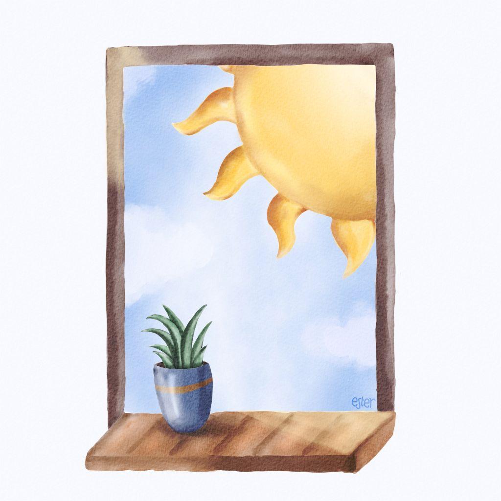 Sunny day illustratie
