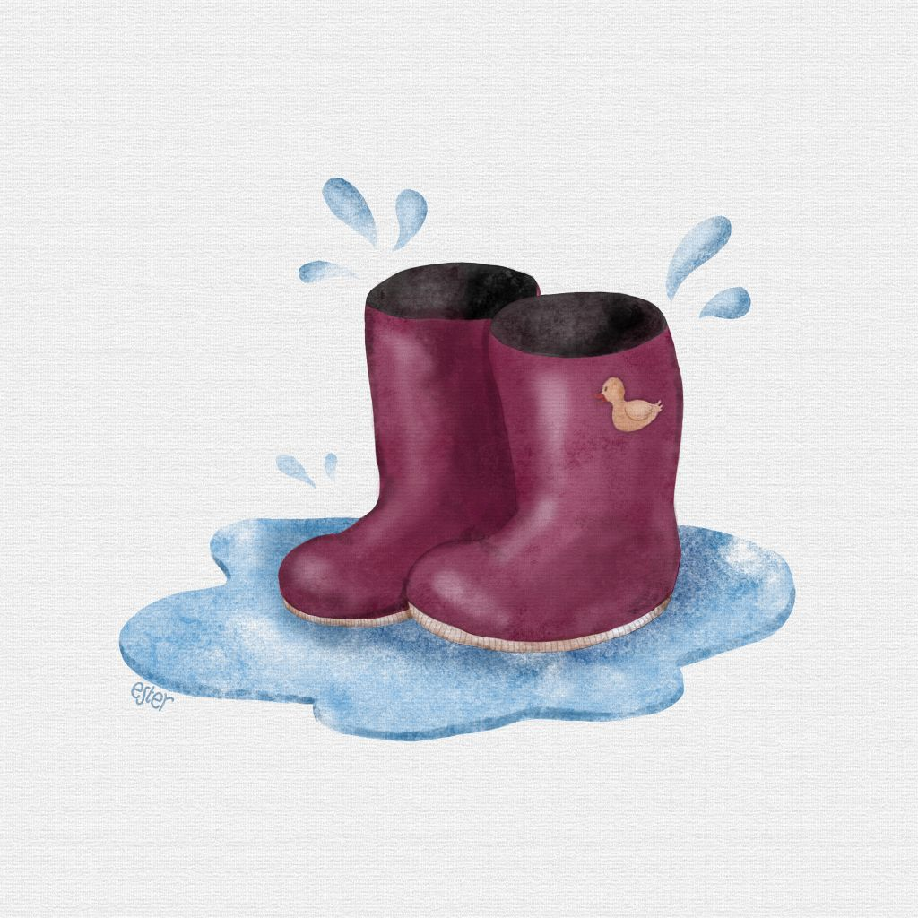 Regenlaarzen illustratie