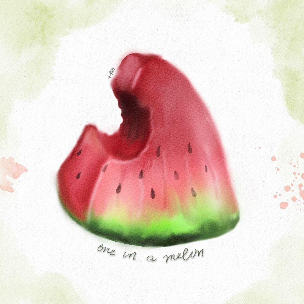 Watermeloen illustratie