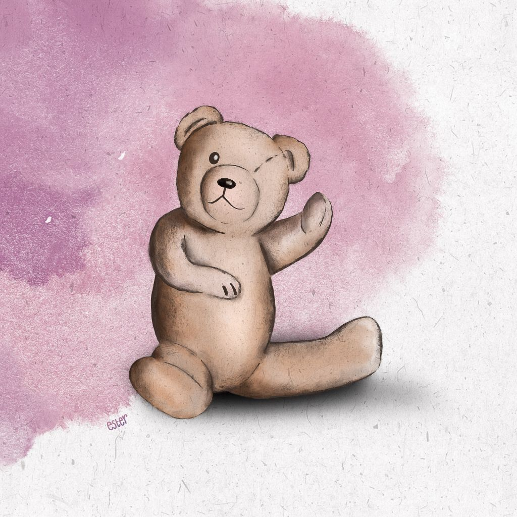 Teddybeer illustratie