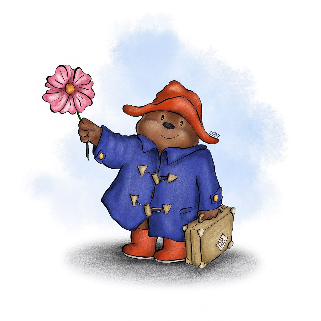 Paddington Bear illustratie
