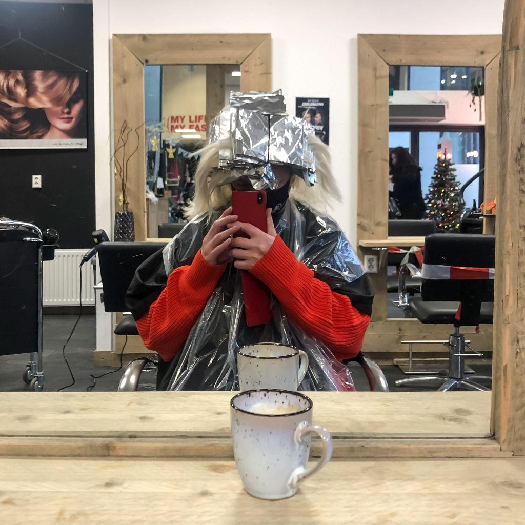 Ingepakt bij de kapper