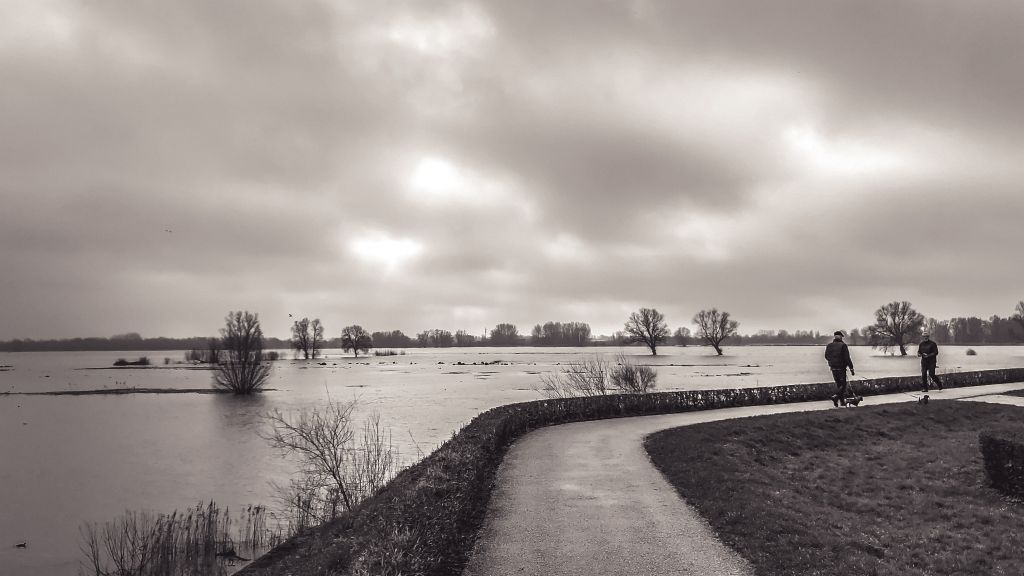 Hoog water in Gorinchem