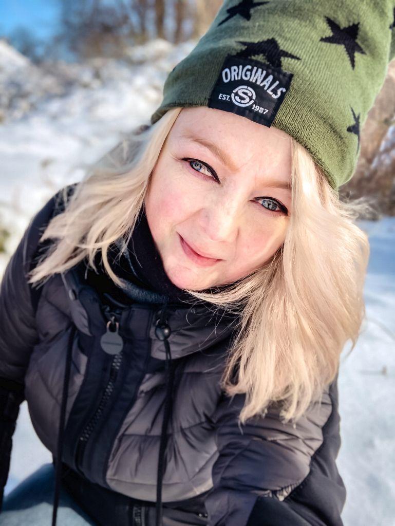Selfie in de sneeuw