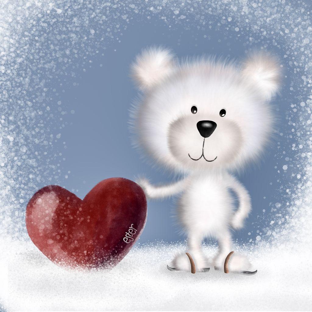 IJsbeertje voor Valentijnsdag