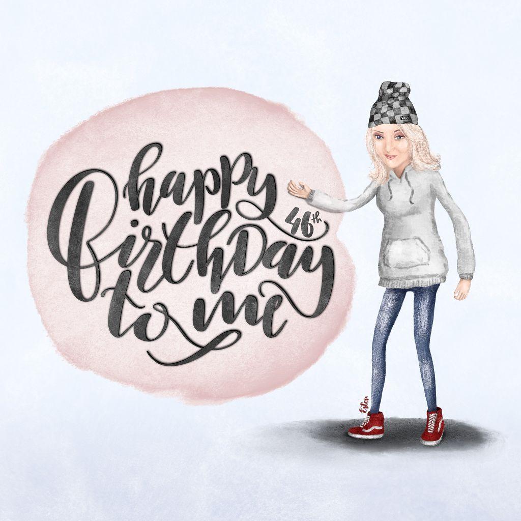 Illustratie voor mijn eigen verjaardag