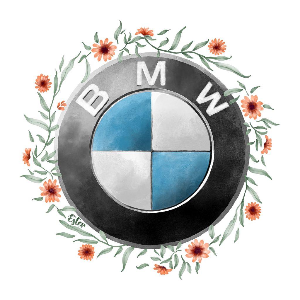 BMW met bloemen