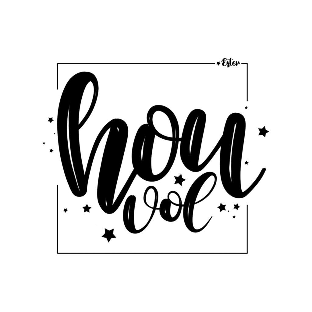 Hou vol lettering