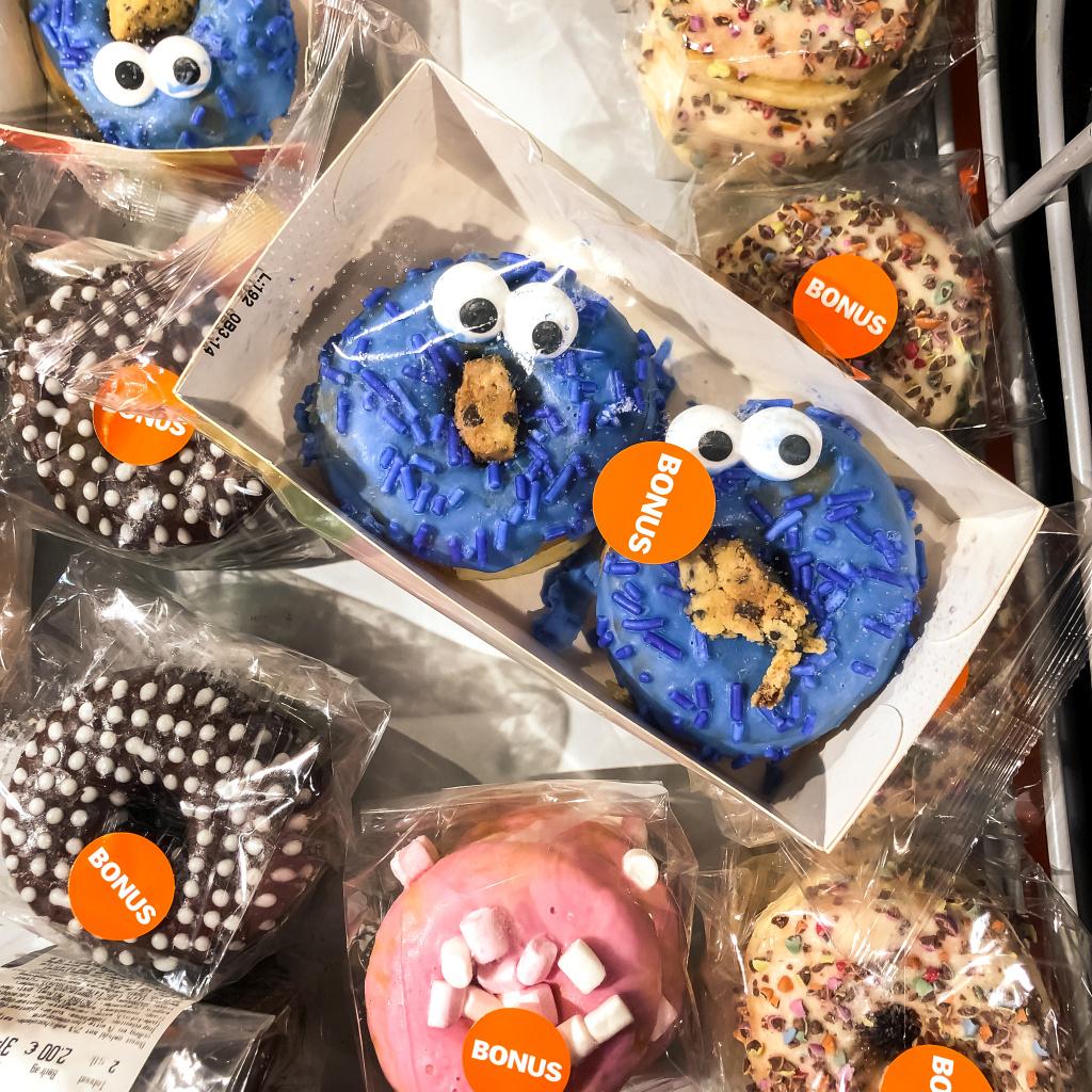 Koekiemonster donuts bij AH